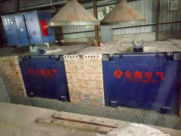 Customer use site of intermediate frequency melting furnace