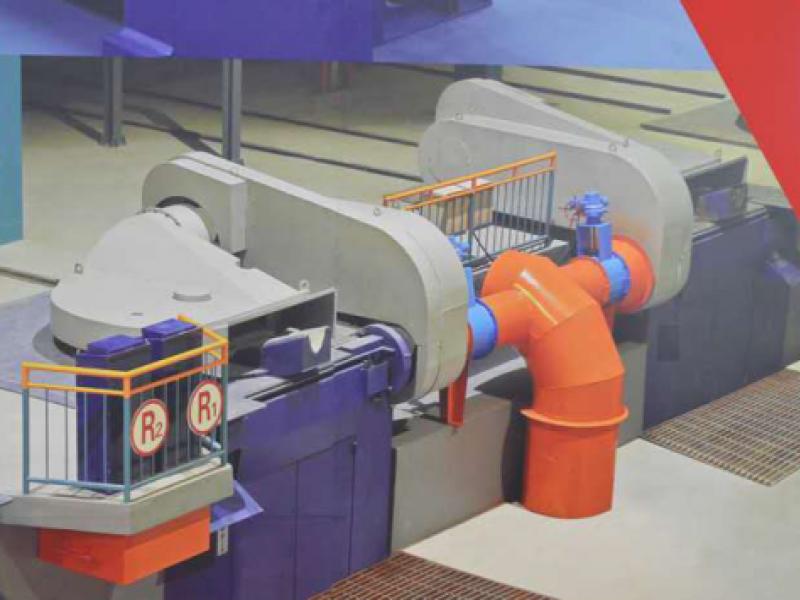 Steel shell furnace body